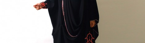 Abaya khaliji d&#8217;inspiration indienne