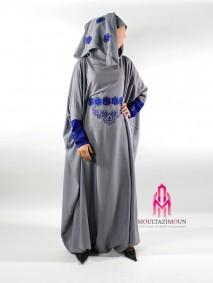 abaya sarouel grisbleu