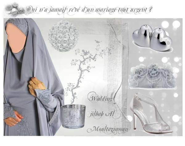 jilbab mariage polyvore