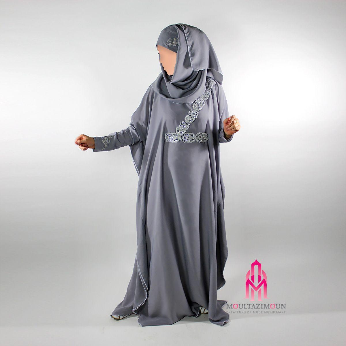 abaya aya manche brodée