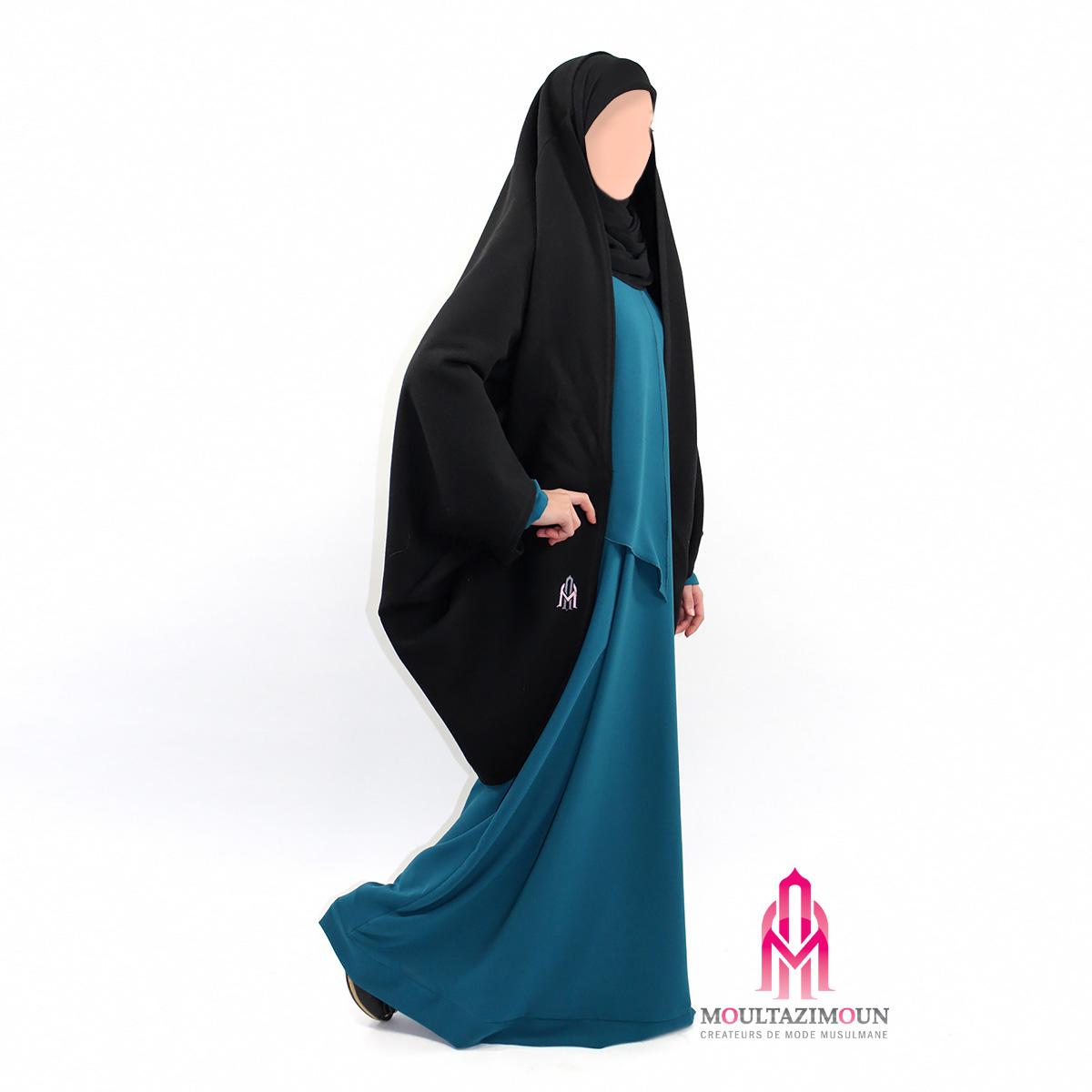 jilbab manteau noir