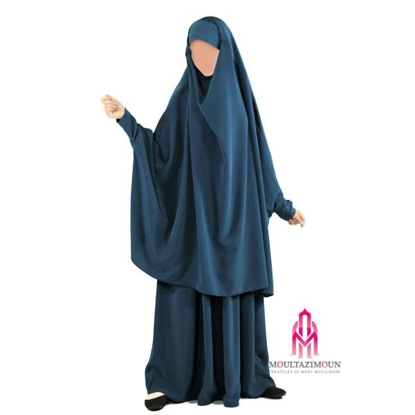 jilbab al houda bleu canard