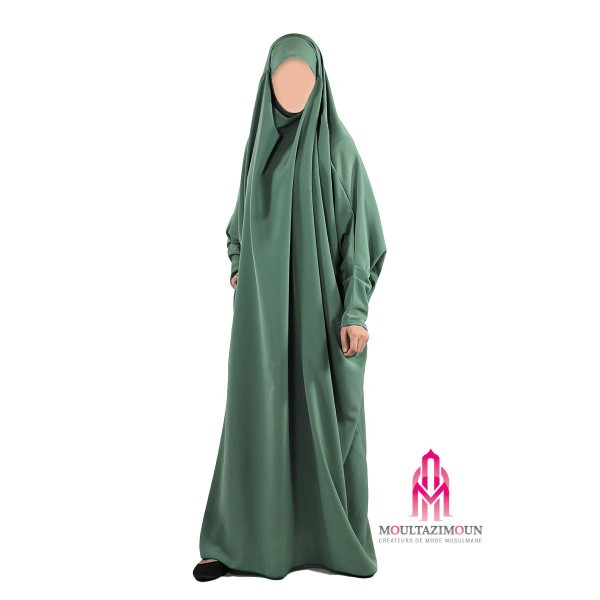 jilbab benet ado vert lichen