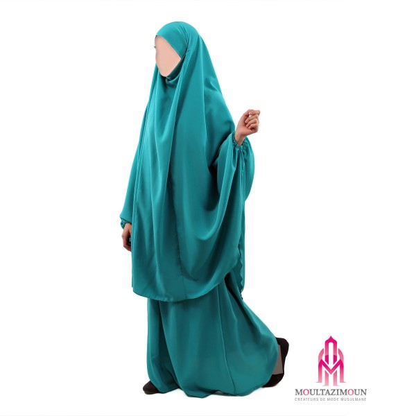jilbab hanifa III vert émeraude