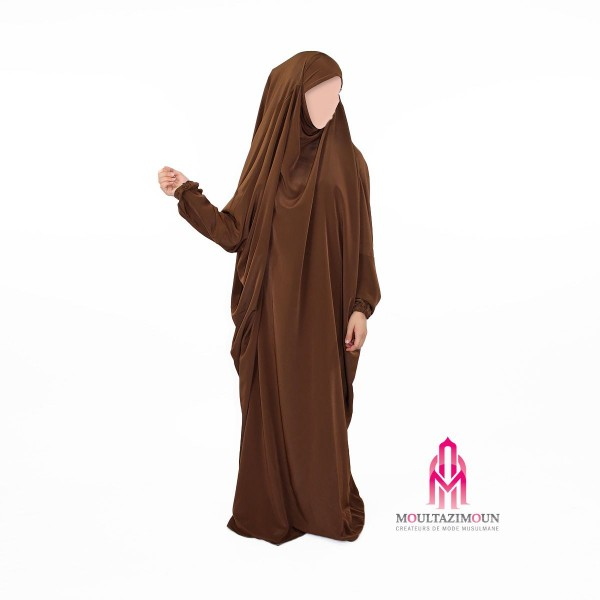 jilbab kawthar marron choco