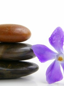 stones and purple