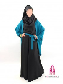 abaya et gilet papillon