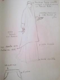 croquis jilbab