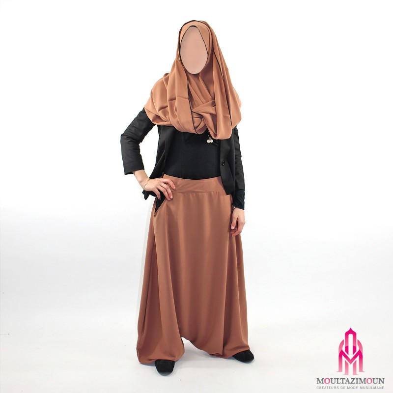 sarouel femme marron